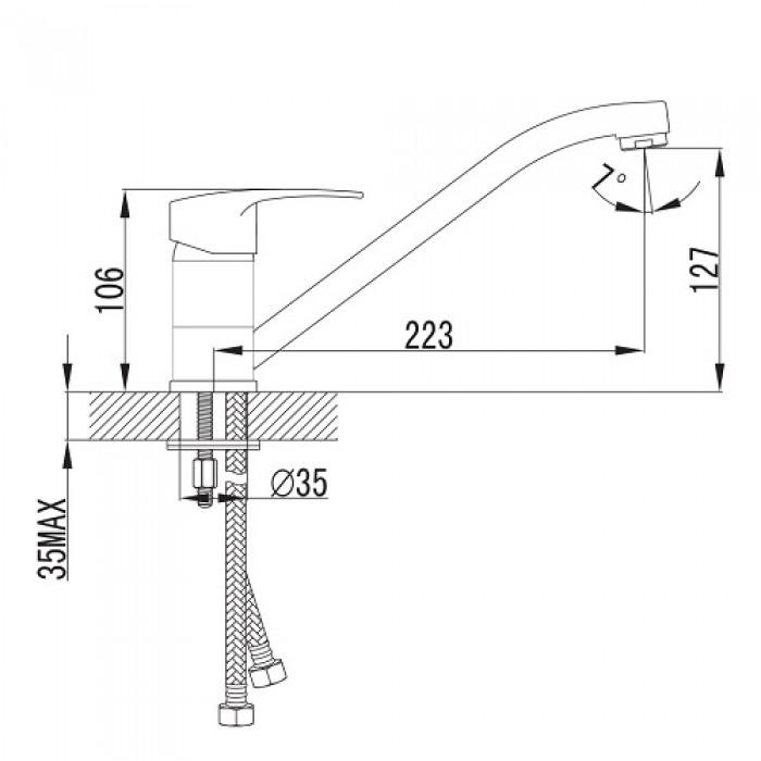 Смеситель для кухни Imprese Jesenik 20140 в интернет-магазине «Estet Room»