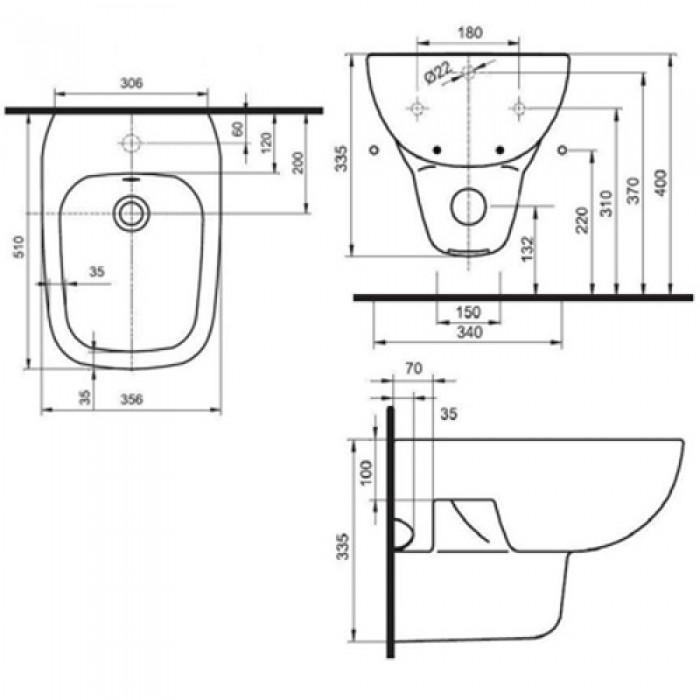 Биде подвесное Kolo Style (L25100000) в интернет-магазине «Estet Room»