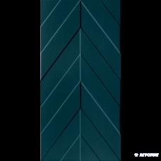 Плитка Marca Corona 4D D734 Chevron Deep Blue Matt Rect. размер 10×800×400